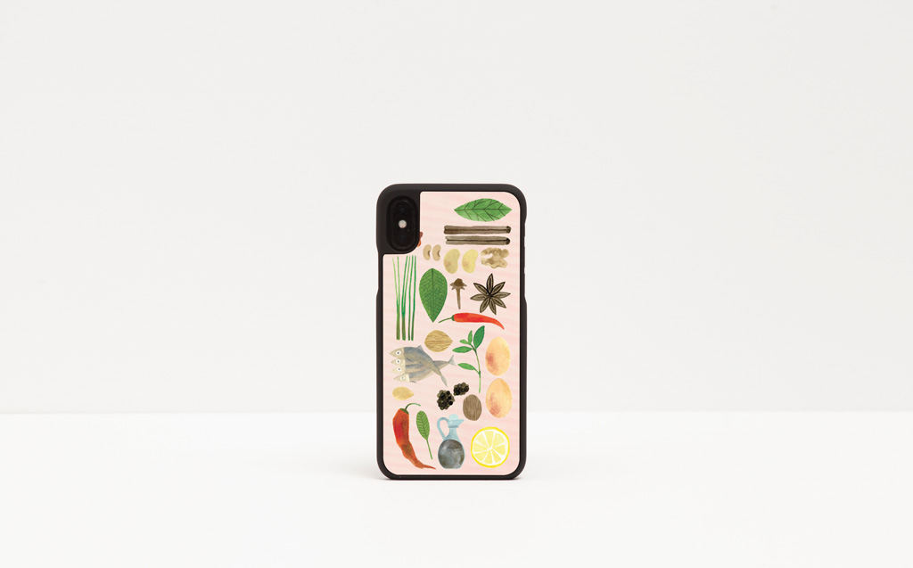 Elenia Beretta designs for Wood'd - Essen iPhone Case