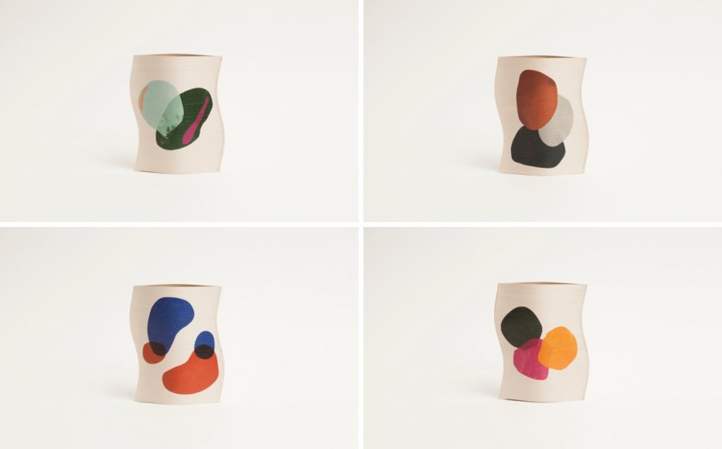 Wooden vase handmade in Italy